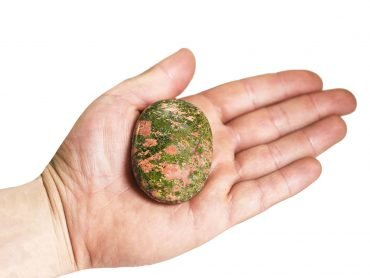 Unakite Palm Stone - Crystal Dreams