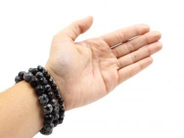 Snowflake Obsidian - bracelet (10mm, 8mm, 6mm) - Crystal Dreams