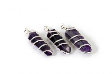 Amethyst spiral pendant from India