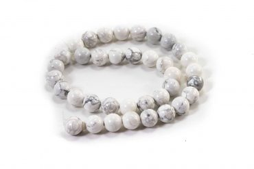 Howlite Beads (10 mm or 8 mm)