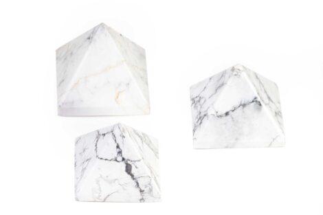 Howlite Pyramid- Crystal Dreams