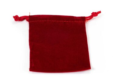 Red Velvet Pouch- Crystal Dreams