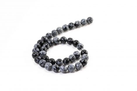Snowflake Obsidian Beads (10mm or 8mm) - Crystal Dreams