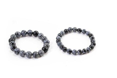 Snowflake Obsidian Bracelet (10mm or 8mm) 1