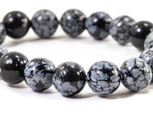 Snowflake Obsidian Bracelet (10mm or 8mm) 2