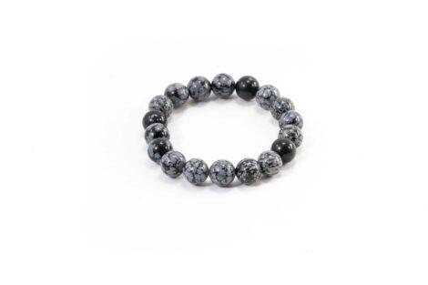 Snowflake Obsidian Bracelet (10mm or 8mm)