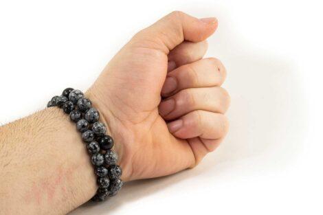 Snowflake Obsidian Bracelet (10mm or 8mm) 3
