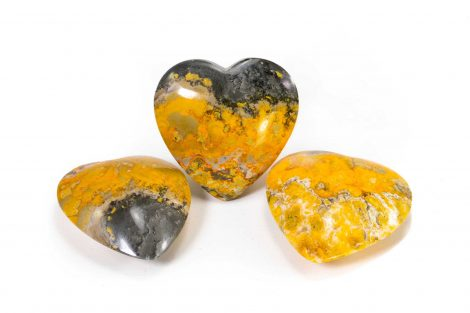 Bumble Bee Jasper Puffy Heart- Crystal Dreams