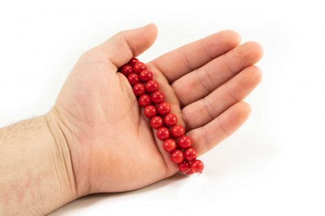 Red Coral Beads string