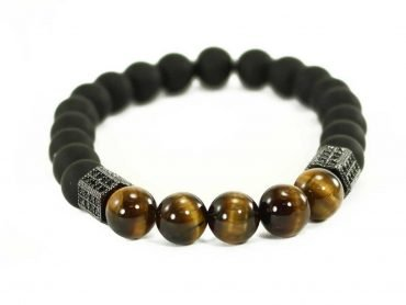 Agate Bracelet with Tiger Eye- Crystal
