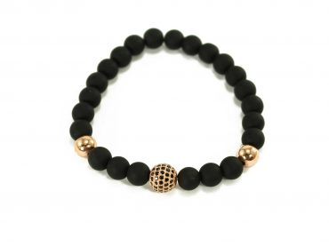 Black Agate Buddha Charm Bracelet in Gold (Copy) 2