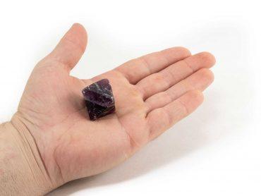 Purple Fluorite Octahedron 3