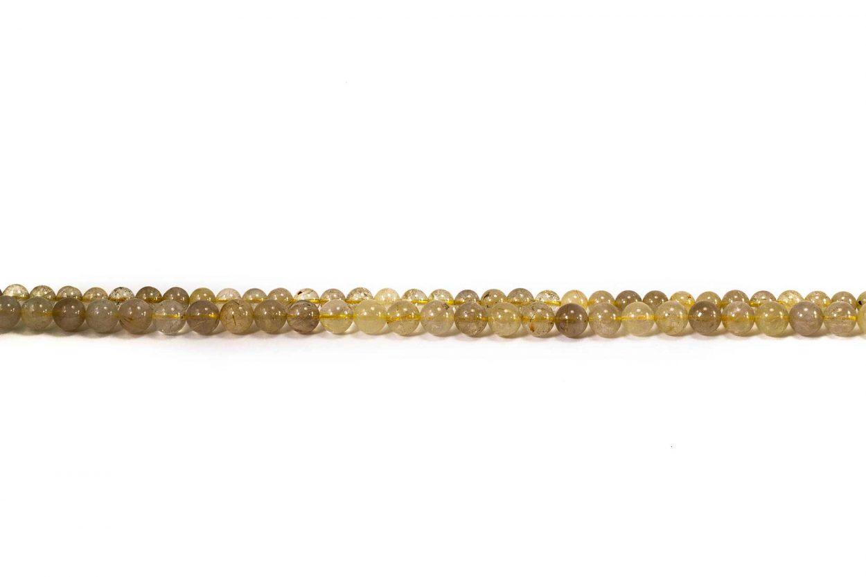 Rutilated Quartz Beads (10 mm or 8 mm)