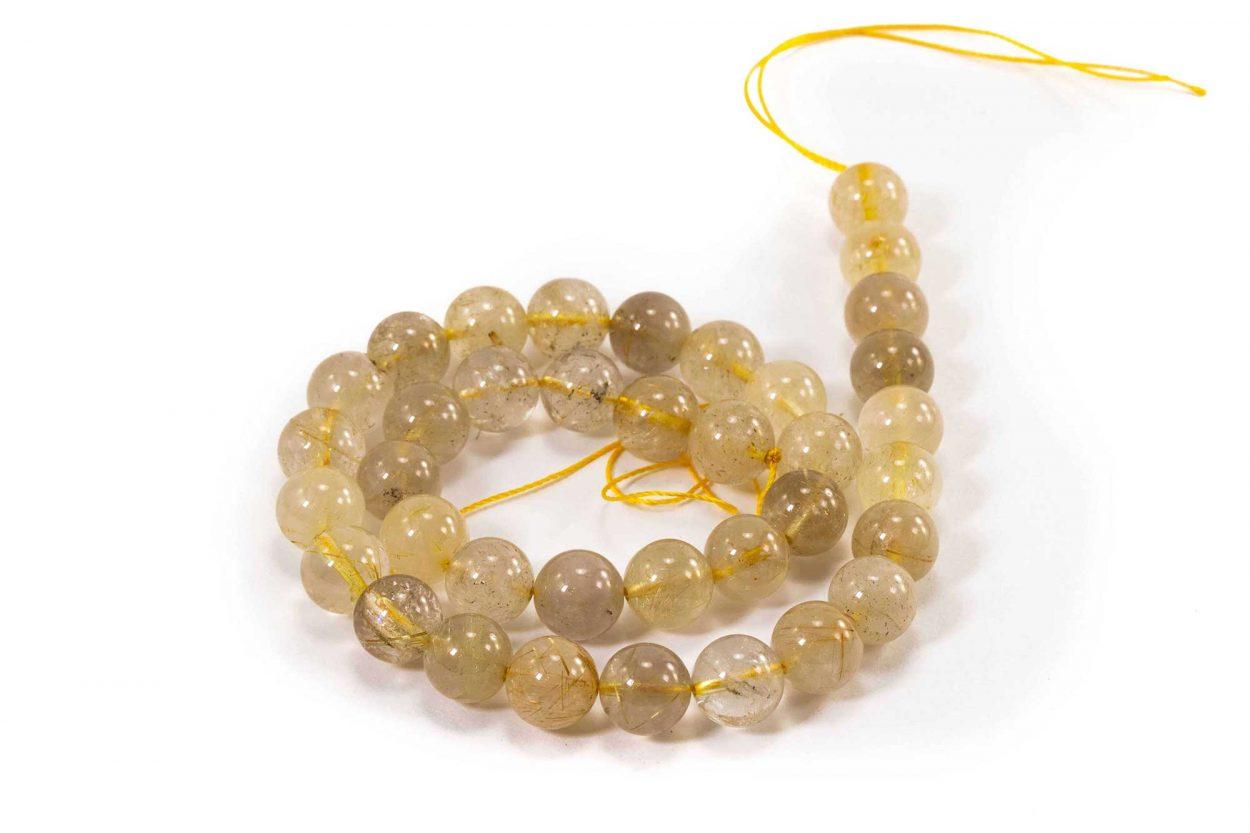 Rutilated Quartz Beads (10 mm or 8 mm) 2
