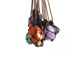 Wrapped Net Necklaces ( Different Gems) 2
