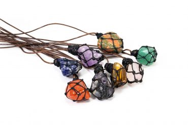 Wrapped Net Necklaces ( Different Gems)