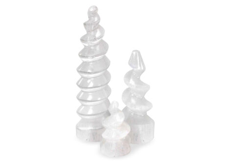 Selenite Spiral Tower - Crystal Dreams
