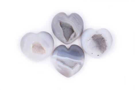 Agate geode hearts Geode Coeur Agate M - Crystal Dreams