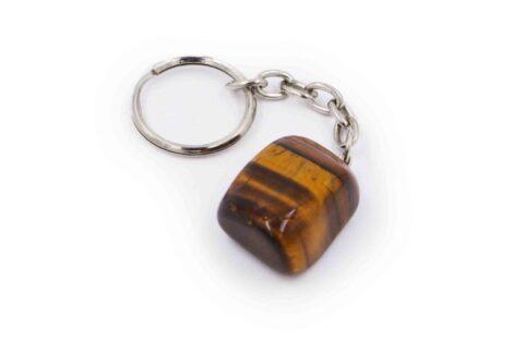 Tiger Eye Tumbled keychain - Crystal Dreams