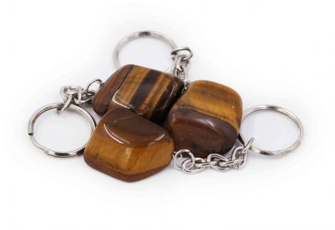 Tiger Eye Tumbled keychain - Crystal Dreams