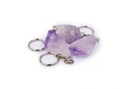 Amethyst point rough Keychain - Crystal Dreams