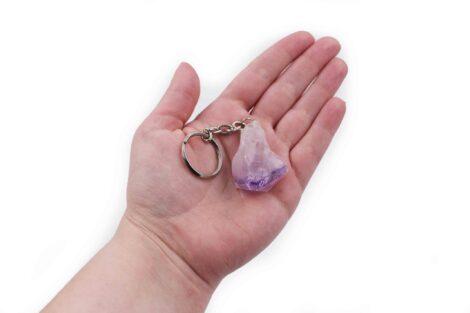 Amethyst point gem Keychain - Crystal Dreams