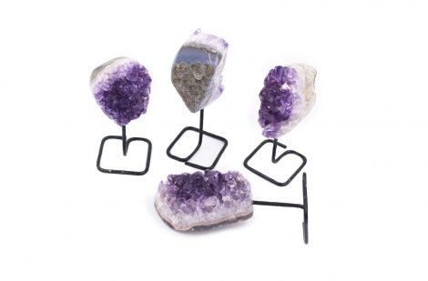 Amethyst Druze Iron Stand Base (S) - Crystal Dreams