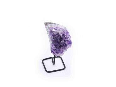 Amethyst Druze cluster Iron Stand Base - Crystal Dreams