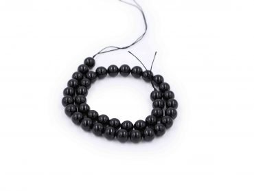 Black Tourmaline beads natural stone - Crystal Dreams