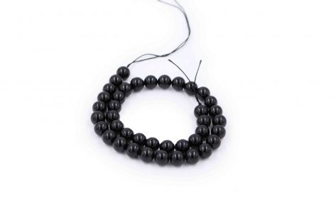 Black Tourmaline beads natural stone - Crystal Dreams
