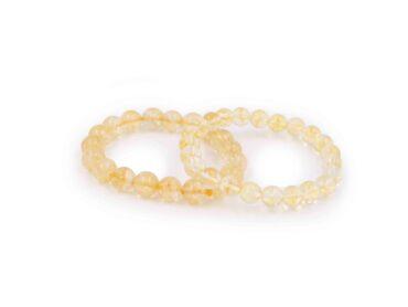 Citrine bracelet polished stone - Crsytal Dreams