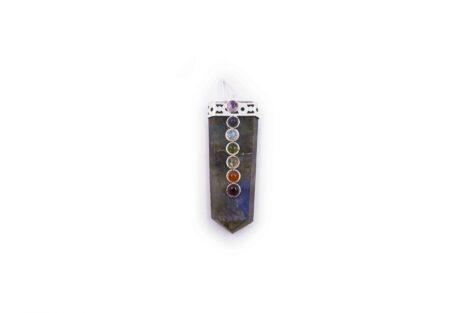 Labradorite pendant seven chakra pendant 7 stone - Crystal Dreams
