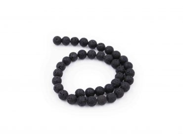 lava stone beads string natural - Crystal Dreams