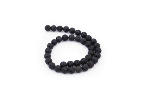 lava stone beads string natural - Crystal Dreams