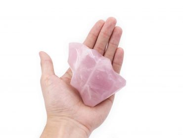 Pink Quartz Flame polished stone - Crystal Dreams