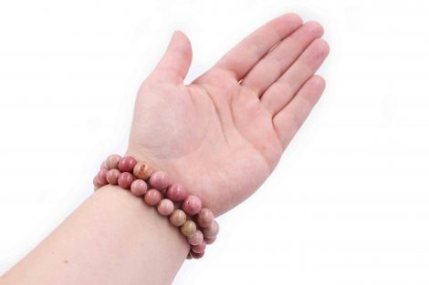 Rhodonite bracelet natural gemstone - Crystal Dreams
