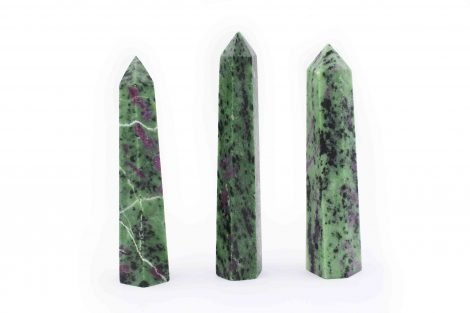 Ruby Fuchsite -Zoisite prisms 8-16 cm- Crystal Dreams
