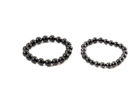 Shungite Bracelet (8 mm or 10 mm) - Crystal Dreams