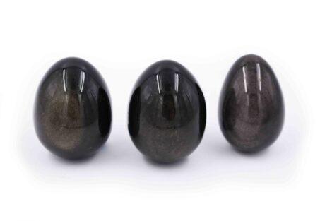 Silver obsidian golden egg - Crystal Dreams