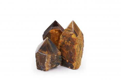Tiger Eye Rough Point stone - Crystal Dreams