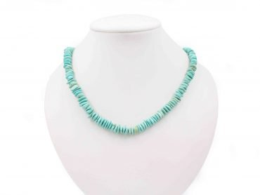 Turquoise Necklace pendant natural stone - Crystal Dreams
