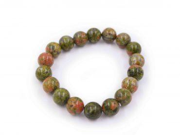 Unakite bracelet gemstone natural - Crystal Dreams
