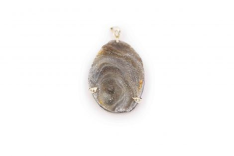 Agate Shell 3 Prongs Pendant Sterling Silver - Crystal Dreams