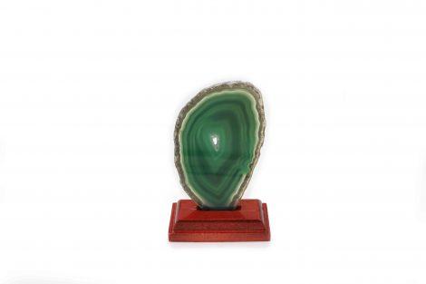Agate Thin Slab on Wood Base - Crystal Dreams
