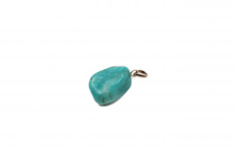Amazonite Tumbled Sterling Silver Pendant - Crystal Dreams