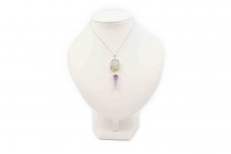 Amethyst + Aquamarine Pendant Sterling Silver - Crystal Dreams