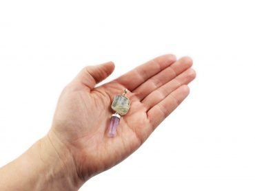 Amethyst + Aquamarine Pendant Sterling Silver - Crystal Dreams