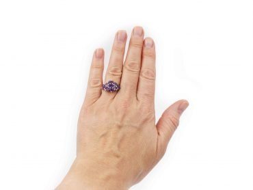 Amethyst Bundle Sterling silver ring