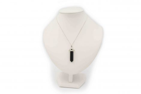 Black Onyx Swivel Sterling Silver Pendant - Crystal Dreams