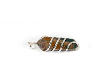 Bloodstone Regular Spiral Pendant- Crystal Dreams